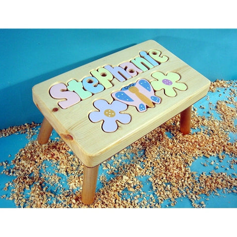 Outstanding Wooden Name Puzzle Stool Ocoug Best Dining Table And Chair Ideas Images Ocougorg
