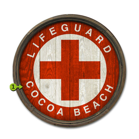 Personalized Barrel End Lifeguard Beach Sign