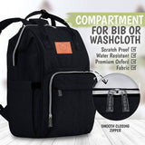 Black Backpack Diaper Bag with Monogram - Free Shipping