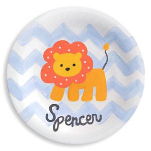 personalized lion plate for child