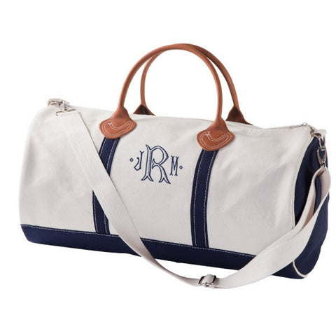 overnight duffle bag with monogram