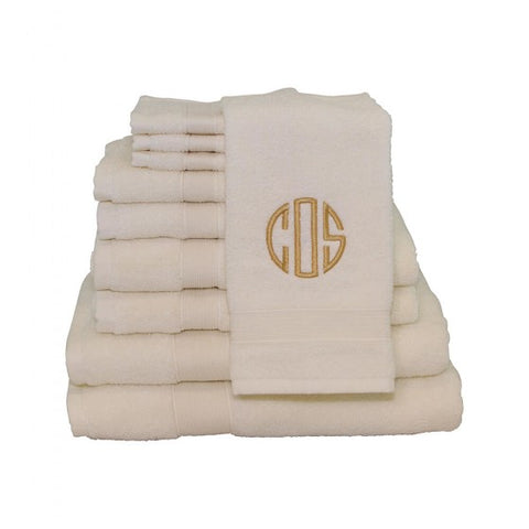 monogram towels bath hand 5 colors pretty personal gifts
