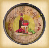 Personalized Barrel End Superlative Wine Sign