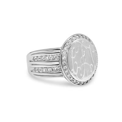 monogram ring engraved
