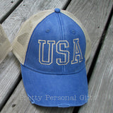 USA Distressed Trucker Hat