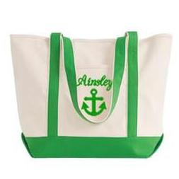 anchor tote bag with name