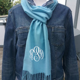 Winter Scarves Monogrammed