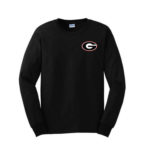 "Black Long Sleeve T-Shirt with ""G"" Logo"