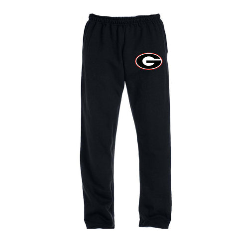 "Black Sweat Pants with ""G"" logo"