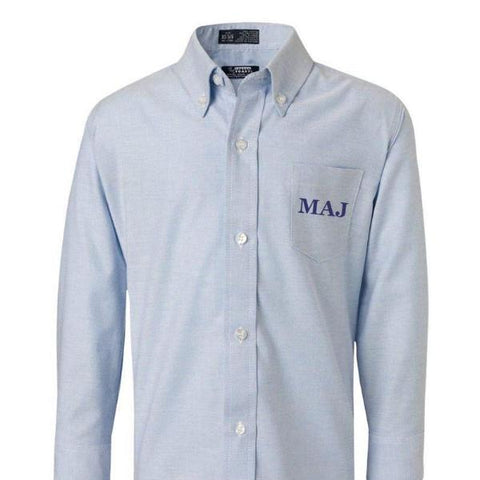 Youth Monogrammed Oxford Dress Shirt