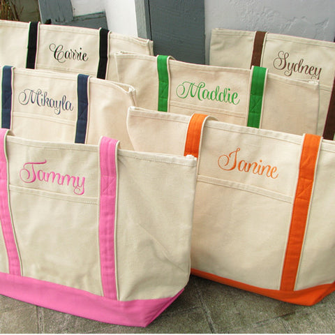Bridal Party Tote Bag with Name