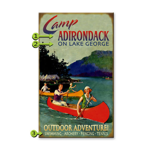 Personalized Camp Adirondack Sign