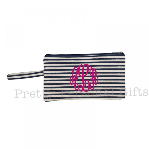 Monogrammed Wristlet Clutch - 4 colors