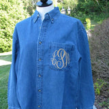 Denim Shirt with Monogram