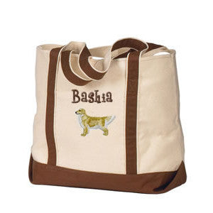 dog breed tote personalized