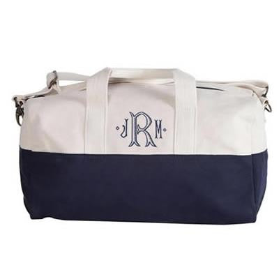 monogrammed duffle bag Pretty Personal Gifts