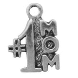 #1 Mom Charm - Sterling Silver