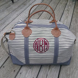 Large Weekender Bag - striped