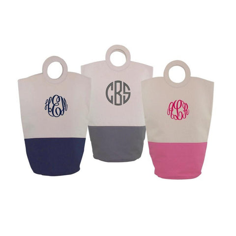 canvas laundry bag with monogram