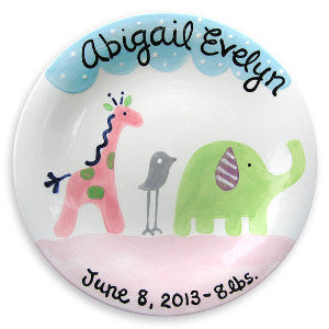 Personalized Ceramic Plate - Safari Parade