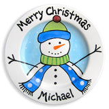 Snowman Personalized Ceramic Plate