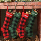 rustic cabin decor personalized Christmas stocking