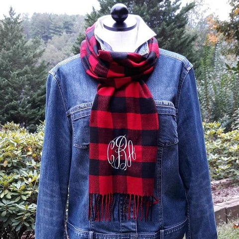 Scarf with Monogram