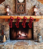 buffalo plaid christmas stocking