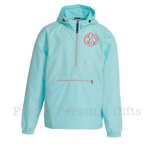 Monogrammed Windbreaker pull over 11 colors