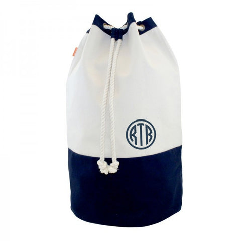 Monogrammed Laundry Duffle Bag