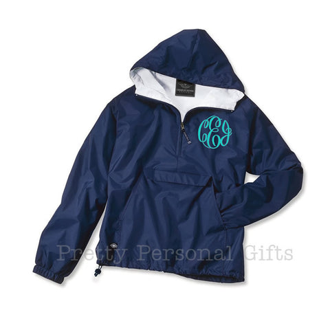 Charles River lined pull over monogrammed