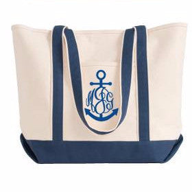 anchor tote bag monogram