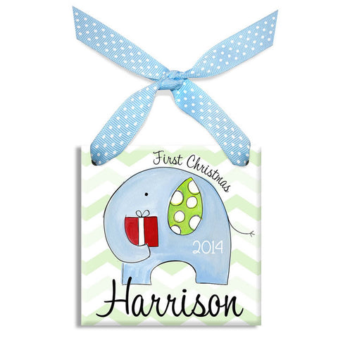 baby's first christmas personalized ornament