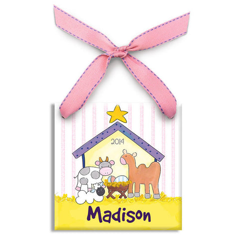 baby's 1st christmas personalized ornament