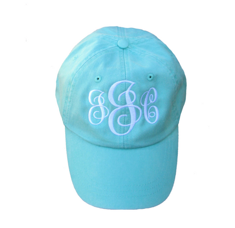 Pigment Dyed Baseball Cap with Monogram