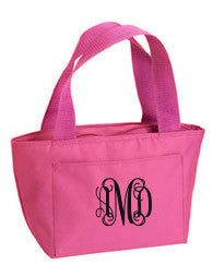 Small Monogrammed Cooler Bag - lunch bag