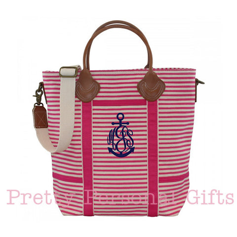 Striped Flight Bag with monogram