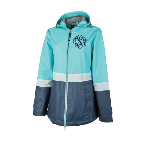 Charles River New Englander Color Blocked Rain Jacket