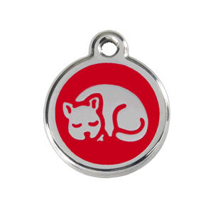 Cat ID Tag - Red Dingo - free shipping
