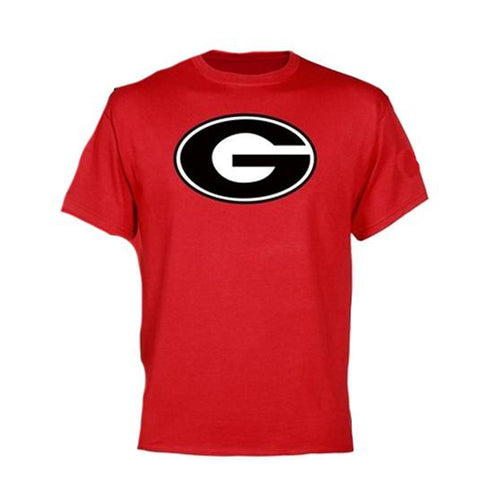 "Red Short Sleeve T-Shirt with ""G"" Logo"