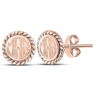 rose gold engraved earrings