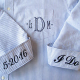Wedding Day Shirt with monogram