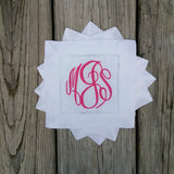 Monogrammed Linen Cocktail Napkins