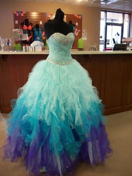 Sweetheart Neckline Ball Gown Prom Dresses, Graduation Dresses