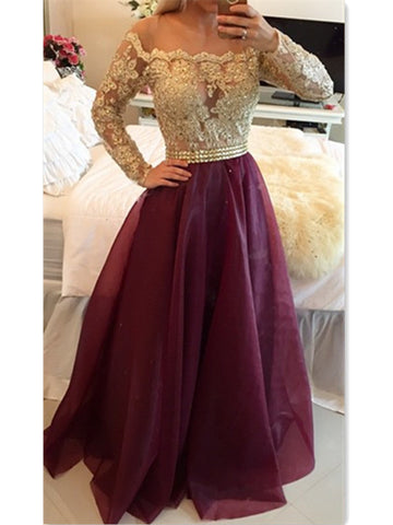 Sweetheart Burgundy Long Prom Dress Popular Formal Evening Dresses For Teens