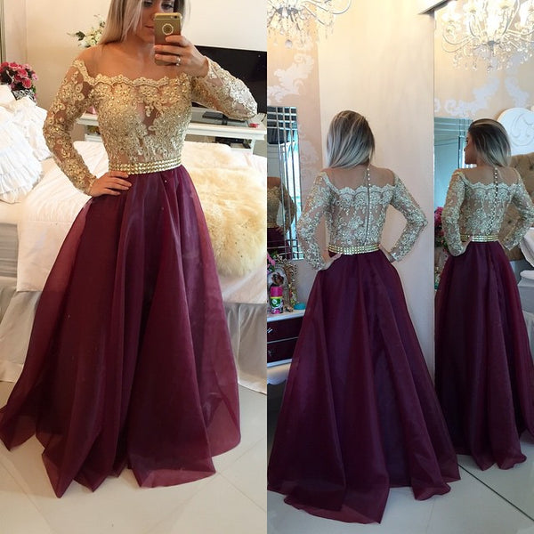 Sweetheart Burgundy Long Prom Dress Popular Plus Size Formal Evening Dresses For Teens