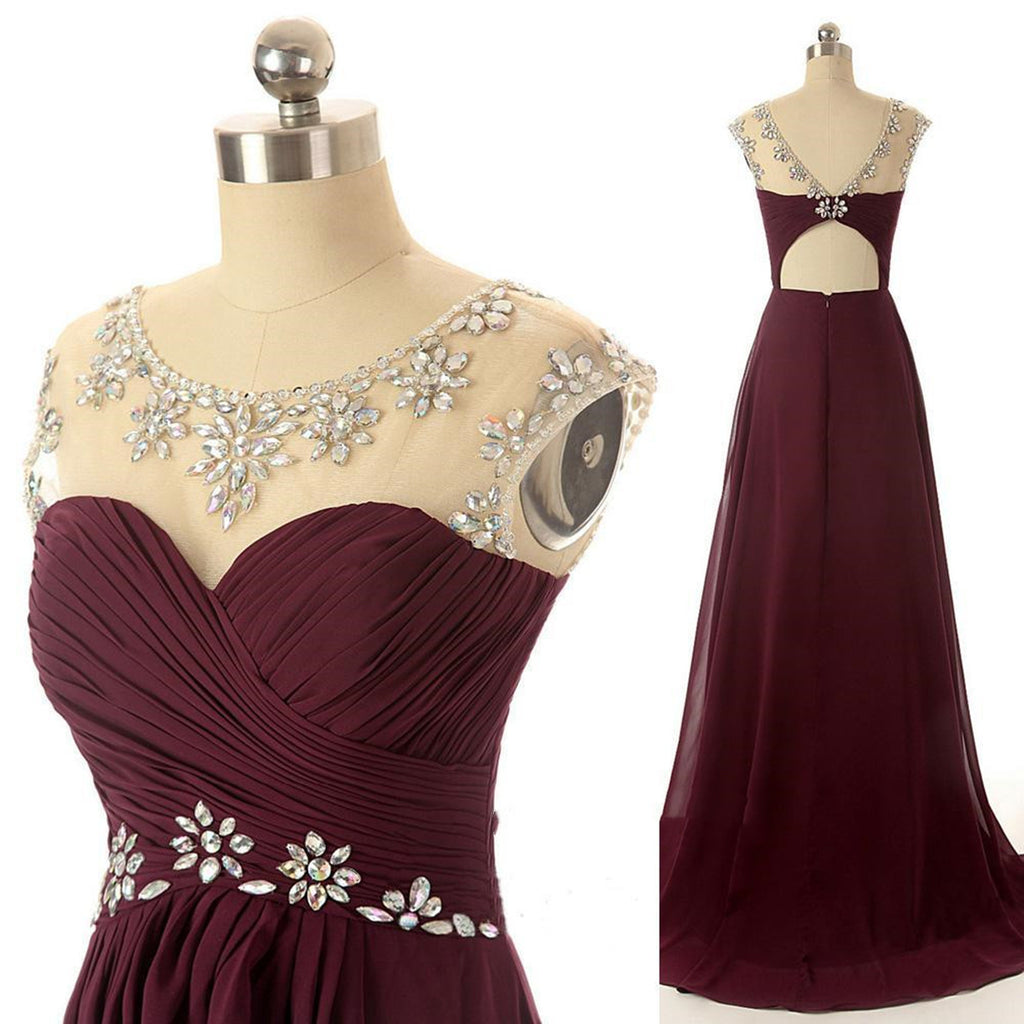 A line round neck maroon prom dress maroon formal dresses a line round neck maroon prom dress maroon formal dresses bridesmaid dresses ombrellifo Choice Image