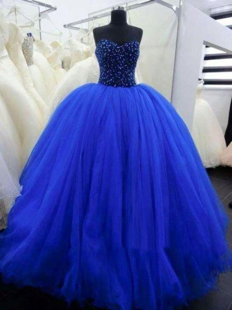 Sweetheart Neck Royal Blue Prom Gown, Royal Blue Prom Dresses ...