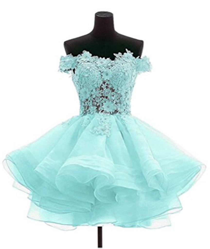 Custom Made Off Shoulder Pink Lace Prom Dresses Pinkbluewhite