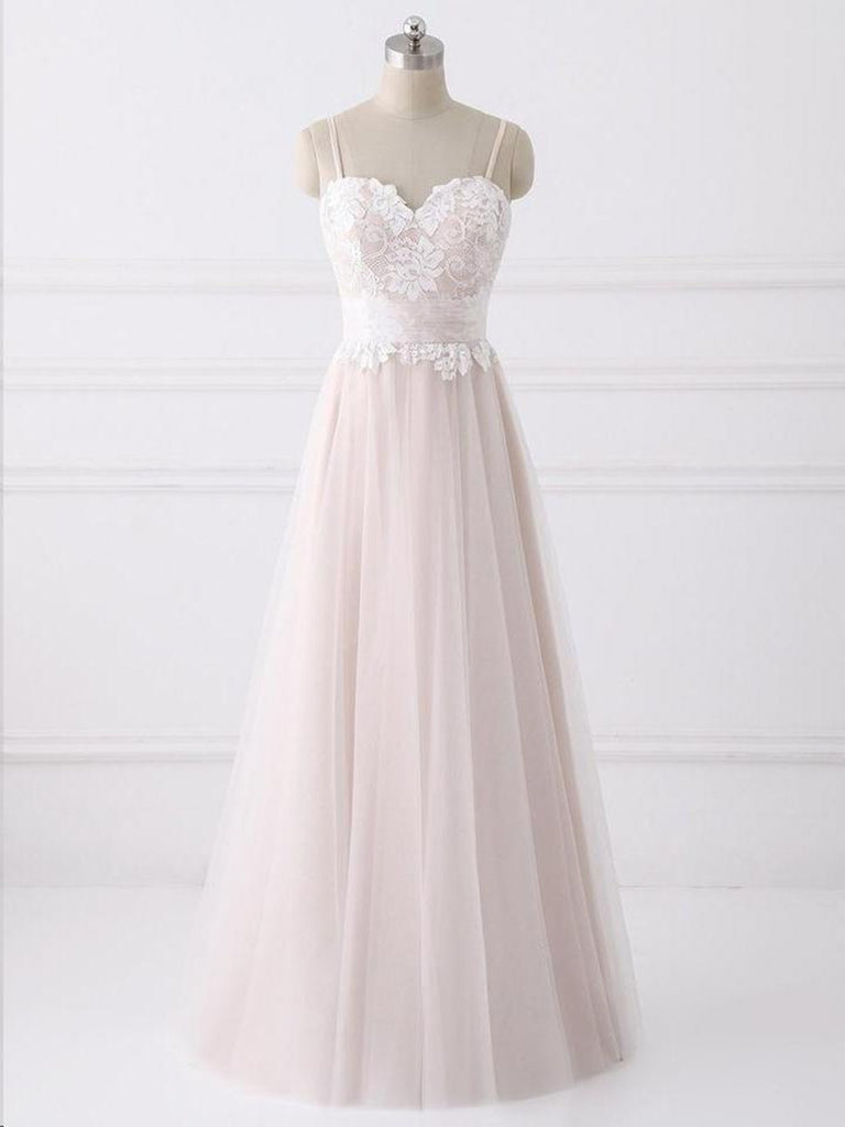 A Line Sweetheart Neck Backless Lace Pink Prom Dresses, Backless Pink Formal Dresses, Pink Graduation Dresses, Evening Dresses